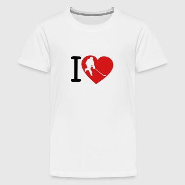 love heart street hockey 5 - Kids' Premium T-Shirt