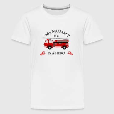 my MOMMY is a hero firefighter themed - Kids' Premium T-Shirt