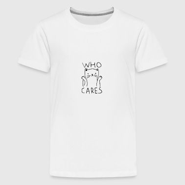 who cares - Kids' Premium T-Shirt