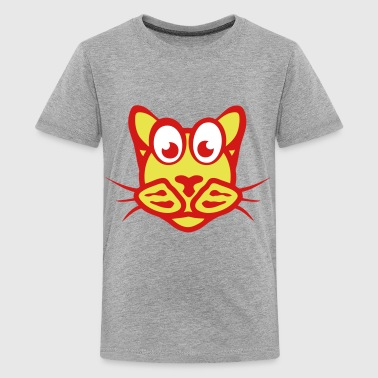 funny cat character animal cartoon 2_111 - Kids' Premium T-Shirt