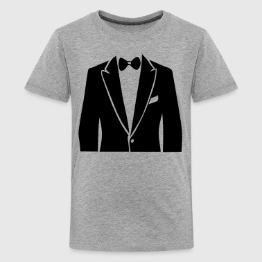 suit bowtie 907 - Kids' Premium T-Shirt