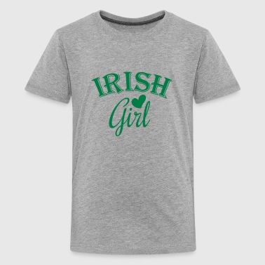 irish girl / irish girl heart - Kids' Premium T-Shirt