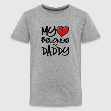 my heart belongs to daddy - Kids' Premium T-Shirt
