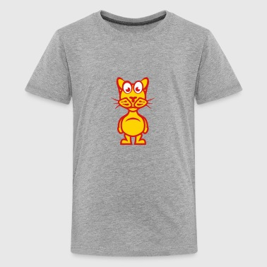 funny cat cartoon character animal 1110 - Kids' Premium T-Shirt