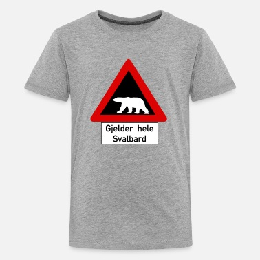 Svalbard Beware of Polar Bears, Norway - Kids' Premium T-Shirt
