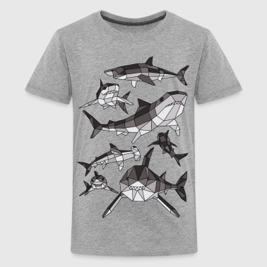 Geometric Sharks - Kids' Premium T-Shirt