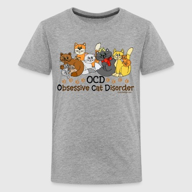 OCD Obsessive Cat Disorder  - Kids' Premium T-Shirt