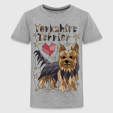 Geometric Yorkshire Terrier - Kids' Premium T-Shirt