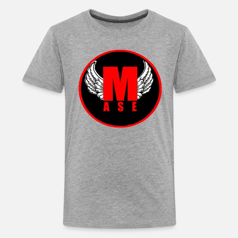 Youtube T-Shirts - Logo Mase - Kids' Premium T-Shirt heather gray