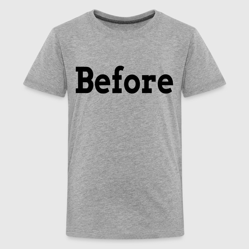 BEFORE AFTER TRANSFORMATION FAMILY GYM WORKOUT - Kids' Premium T-Shirt