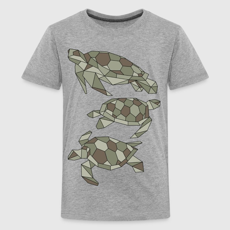 Geometric Turtles - Kids' Premium T-Shirt