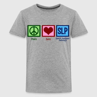 Speech Therapist Peace Love SLP - Kids' Premium T-Shirt