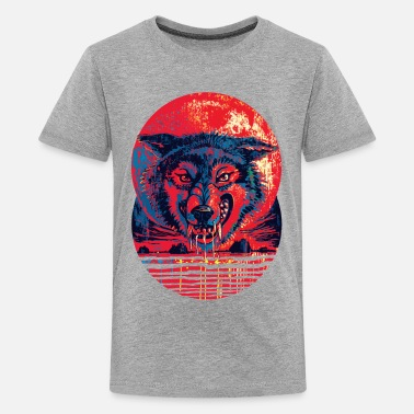 One Punch Man Blood Red Wolf Moon - Kids' Premium T-Shirt