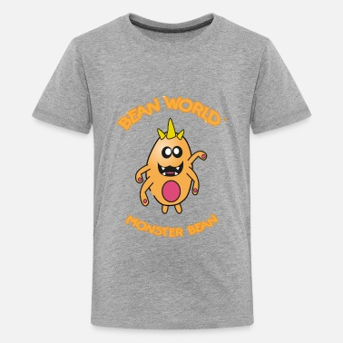 Baked Beans Funny Bean World - Monster Bean - Kids' Premium T-Shirt