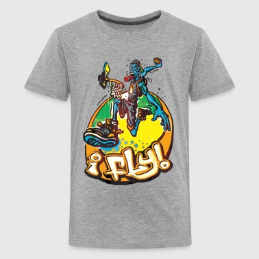 I Fly Hoops Air Walker - Kids' Premium T-Shirt