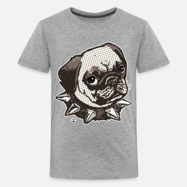 Blue Collar Pug Big Dot - Kids' Premium T-Shirt