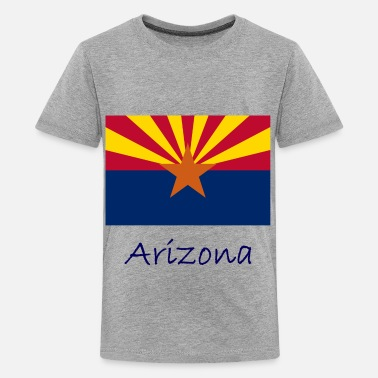 Country Name Arizona Flag And Name  - Kids' Premium T-Shirt