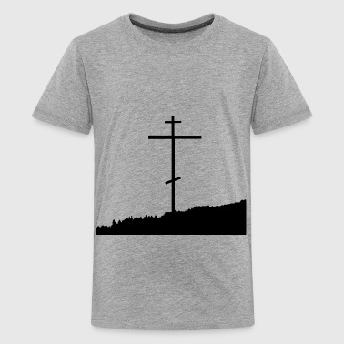 Orthodox cross christianity nature skyline - Kids' Premium T-Shirt