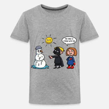Star-wars-snowman Vader vs Snowman 01-2018- - Kids' Premium T-Shirt