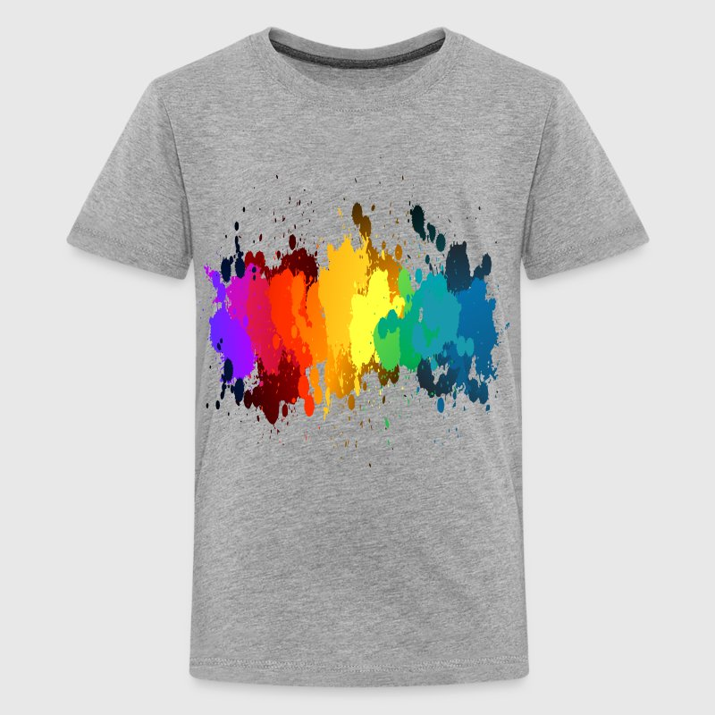 Rainbow Paint Splatter - Kids' Premium T-Shirt