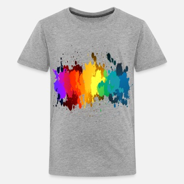 Paint Splatter Rainbow Paint Splatter - Kids' Premium T-Shirt