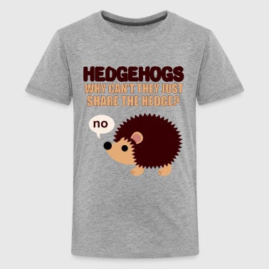 Hedgehogs don't share - Kids' Premium T-Shirt