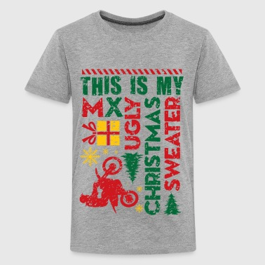Motocross My Ugly Christmas Sweater - Kids' Premium T-Shirt