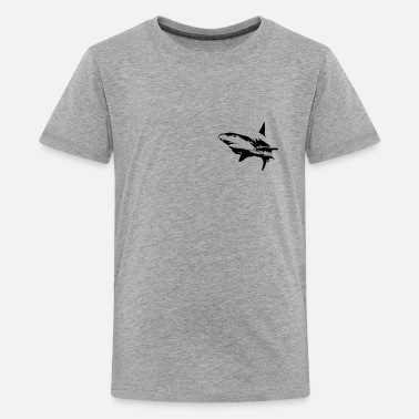 Ocean Shark Dangerous shark, oceanic life, animals - Kids' Premium T-Shirt