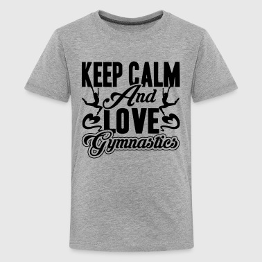 Keep Calm And Love Gymnastics Shirt - Kids' Premium T-Shirt