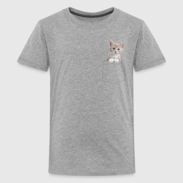 Cat pocket - Kids' Premium T-Shirt