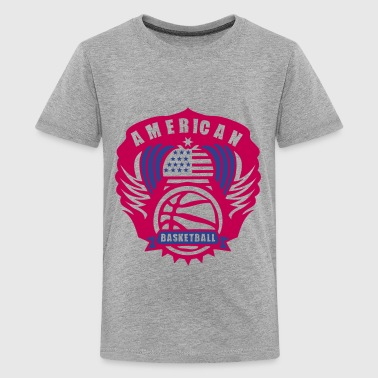 basketball wing logo flag usa state - Kids' Premium T-Shirt
