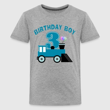 Birthday Boy Train - Kids' Premium T-Shirt