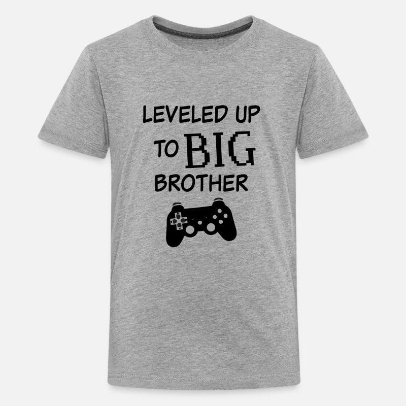 3dabe71b Leveled up to Big Brother Shirt Video Game Funny Kids' Premium T-Shirt |  Spreadshirt