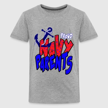 Proud Navy Parents - Kids' Premium T-Shirt