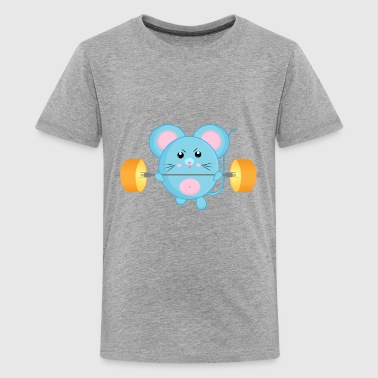Funny Athletic Mouse - Kids' Premium T-Shirt