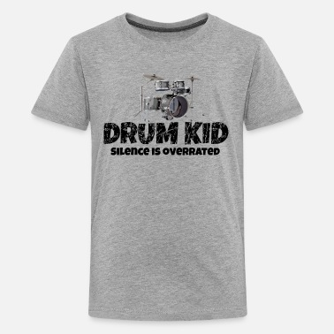 Kids Percussion Drum Kid Funny Drummer Drums Kids (Silence) - Kids' Premium T-Shirt