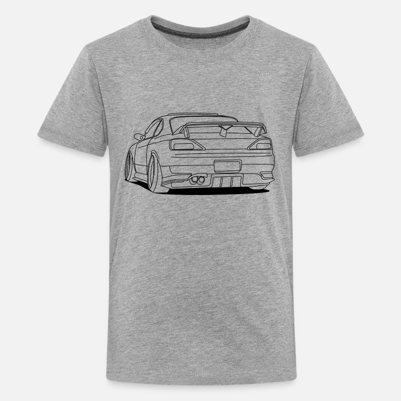 Stance T-Shirts - cool car outlines - Kids' Premium T-Shirt heather gray
