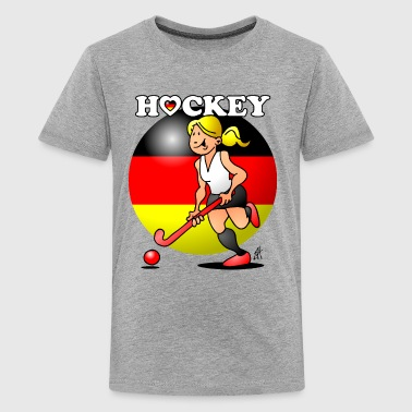 Hockey lady of the German field hockey team. - Kids' Premium T-Shirt