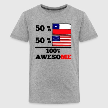 Chile Half Chilean Half American 100% Awesome - Kids' Premium T-Shirt
