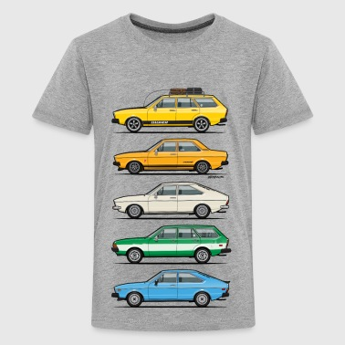 Stack of VAG B1 VDubs and Four Rings - Kids' Premium T-Shirt