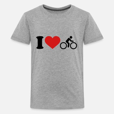 I Love Cycling I love Cycling - Kids' Premium T-Shirt