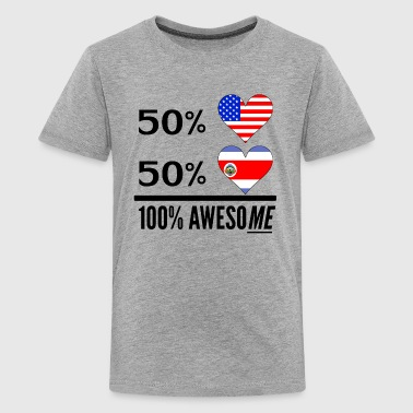 Half American Half Costa Rican 100% Awesome - Kids' Premium T-Shirt