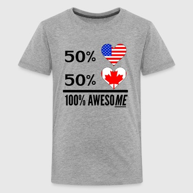 Half American Half Canadian 100% Awesome - Kids' Premium T-Shirt