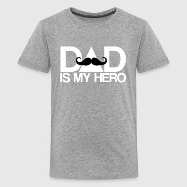 dad is my hero - Superhero-Daddy-Papa-Father's day - Kids' Premium T-Shirt