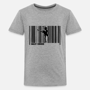 Ballet Dancer barcode dancer ballet 3 - Kids' Premium T-Shirt