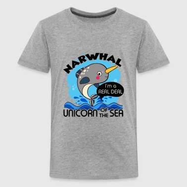 Narwhal Unicorn Of The Sea Shirt - Kids' Premium T-Shirt