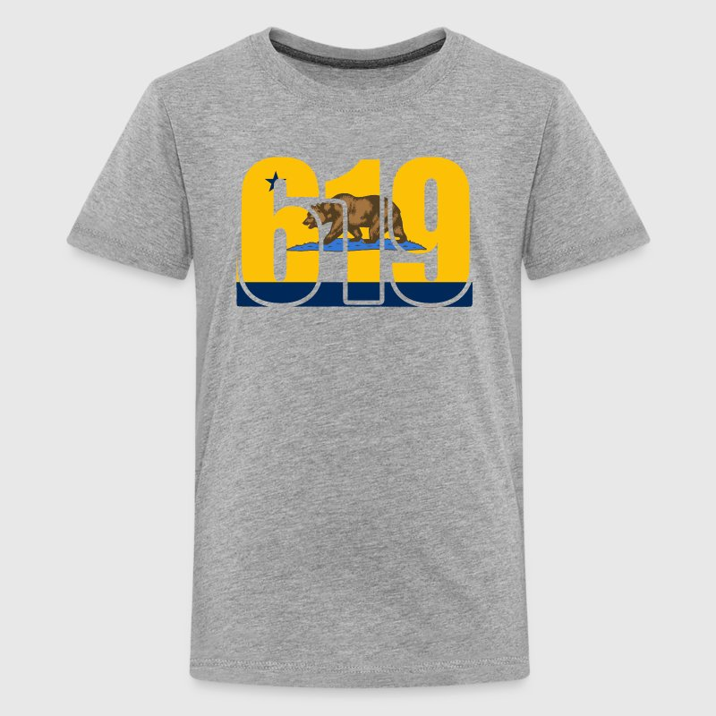 619 San Diego Bolts California Bear Shirt T-Shirt  - Kids' Premium T-Shirt