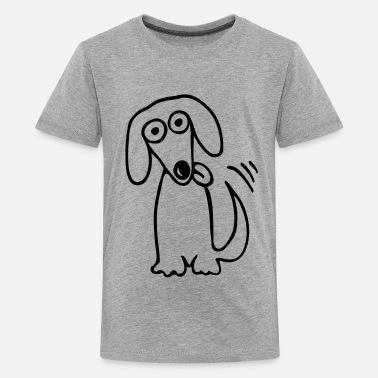 Funny dog Comic Cartoon - Kids' Premium T-Shirt