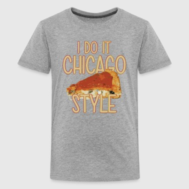 Chicago Deep Dish Funny Parody Chicago Style Deep Dish Pizza Shirt T - Kids' Premium T-Shirt