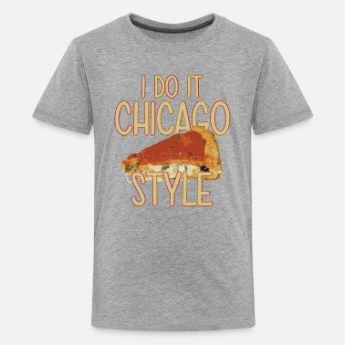 American Classic Kids Funny Parody Chicago Style Deep Dish Pizza Shirt T - Kids' Premium T-Shirt